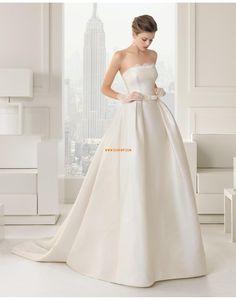 Traîne mi-longue Sans bretelles Empire Robes de mariée 2015 Robe De Mariée  Simple 5b8e346b7d9