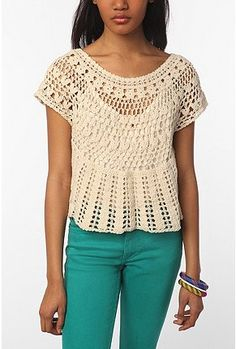 crochet something like this but longer