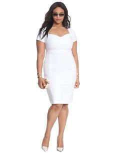 The Curvy Fashionista   13 Plus Size Little White Dresses for Summer