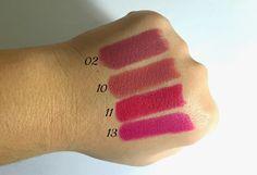 golden rose velvet matte lipsticks 2,10,11,13