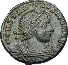 Constantine was initially the guardian of his younger brother Constans, whose portion of the empire was Italia, Africa and Illyricum. Constantine soon complained that he had not received the amount of territory that was his due as the eldest son. Ancient Roman Coins, Ancient Romans, Sea Peoples, Roman History, Rare Coins, Coin Collecting, Roman Empire, Byzantine, Soldiers