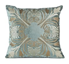 Bombay & Co, Inc.::HOME DÉCOR::Decorative Pillows::Embroidered Medallion Pillow Cover