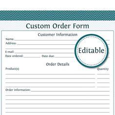 80 Best Cake Business Order Form Images