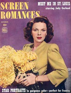 Judy Garland on the cover of Screen Romances, November USA. Star Magazine, Movie Magazine, Classic Hollywood, Old Hollywood, Hollywood Glamour, Judy Garland Liza Minnelli, Magazin Covers, I Love Cinema, Celebrity Magazines
