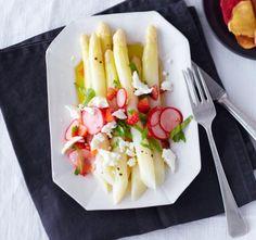 Rezept: Spargelsalat Rot-Weiß