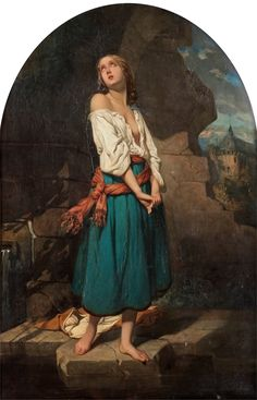 CHARLES ZACHARIE LANDELLE, Young woman in a landscape.