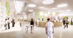 Image 3 of 7 from gallery of gmp Wins First Prize to Design Swiss Children's Hospital. Photograph by JB Ferrari & Associés SA Healthcare Architecture, Healthcare Design, Architecture Models, Childrens Hospital, New Hospital, Lausanne, Ferrari, First Prize, Boutique Interior Design