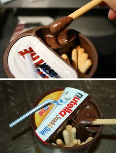 Nutella sticks! #chocolate #food