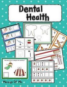 Saturday: Printable Dental Health Unit Show-and-Share Saturday: Printable Dental Health Unit - I Can Teach My Child!Show-and-Share Saturday: Printable Dental Health Unit - I Can Teach My Child! Dental Health Month, Oral Health, Health Tips, Health Recipes, Health Care, Dental Hygiene, Dental Care, Dental Kids, Children's Dental
