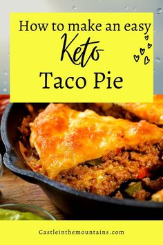 An easy keto beef and coconut flour taco pie. This recipe has a ton of flavor, is a huge hit with my family, great addition to a keto or low carb taco tuesday! #ketotacocasserole #ketococonutflour #ketotacos #ketotacopie Low Carb Enchiladas, Low Carb Tacos, Taco Pie, Keto Taco, Fresh Salsa, Enchilada Sauce, Gordon Ramsay, Jamie Oliver, Taco Tuesday