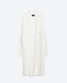Image 8 of LONG COAT WITH DRAPED NECK from Zara