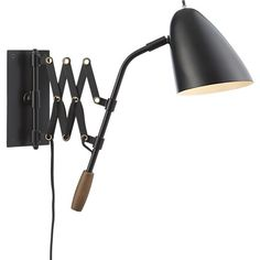 Morgan Black Sconce in Sconces | Crate and Barrel