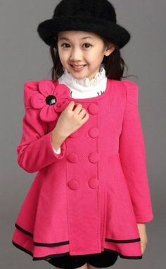 Pink Trench Coat for 8 Years Old Little Girl Pink Jacket cardigan | Rudelynssarisaristore -  on ArtFire