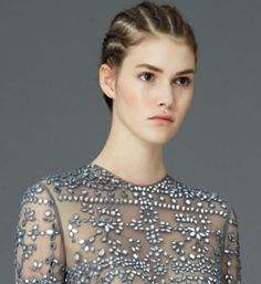 Valentino pairs cornrows & couture: