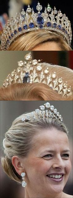 Dutch sapphire tiara 1881 by Mellerio (designed in 1867 by Oscar Masin) iin 3 forms.