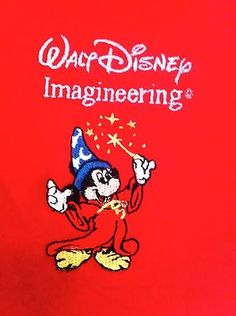 RARE Disney Imagineering Medium Polo Shirt Mickey Mouse Cast Exclusive WDI
