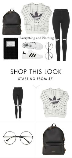 """""""Everything and Nothing"""" by arybo13 ❤ liked on Polyvore featuring Topshop, adidas, Retrò and Givenchy"""