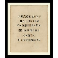 I pinned this Peace & Love Framed Wall Art II from the Artful Accents event at Joss and Main!