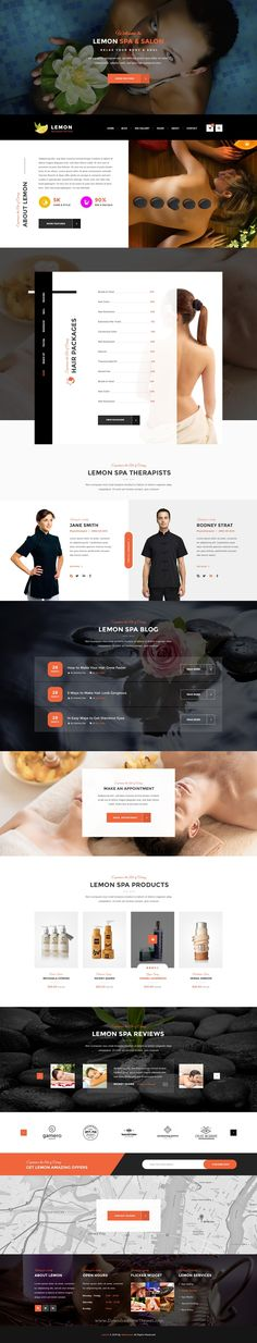 Lemon is a Spa and Beauty PSD template with minimal and modern design. If you are looking for a Trendy Spa Salon kind Website, Lemon is the best fit for you.