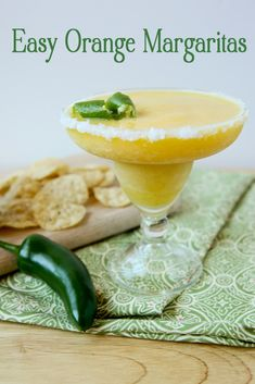 Easy Orange Margaritas (follow the link for the secret ingredient!)