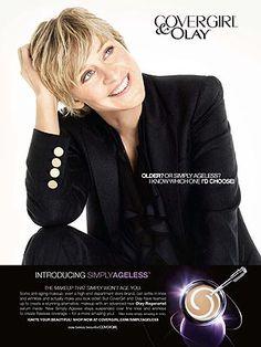 Ellen Degeneres - a natural Covergirl!