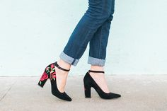 Embroidered Heels // #anthrofave