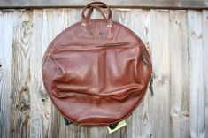 CacSac Gig Bags 22'' 'Heavy Grain Brown' Cymbal Bag Drum Cases, Drums, Leather Backpack, Brown, Bags, Handbags, Leather Backpacks, Percussion, Drum