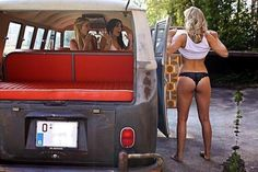 I just wanted a place for all the pictures of girls and VWs I've acquired. Volkswagen Minibus, Vw Passat, Vw T1, Trucks And Girls, Car Girls, Big Trucks, Combi T1, Bus Girl, Vw Vintage