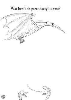 wat heeft de pterodactylus vast?
