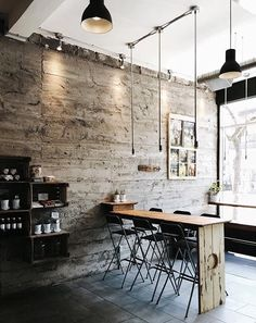 Home Decoration Ideas For Wedding Info: 4614258402 Cafe Industrial, Industrial Interiors, Bar Design, Coffee Shop Design, Cafe Interior Design, Interior Architecture, Cafe Restaurant, Restaurant Design, Café Bar