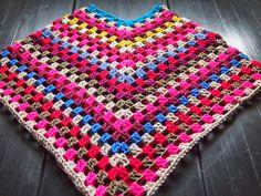 VMSomⒶ KOPPA: Kesäkäsityö - crochet poncho - brief explanation