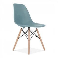 set of 2 - mid century modern mint DSW dining side chair dowel wood.eames,esque #MidcenturyBoy #Modern