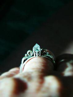 Herkimer Diamond Ring Bridal Accessories Victorian Art Deco #engagement #weddings #bride #brides #bridalring #proposal #diamond #diamondring #rawdiamond #diamondengagement