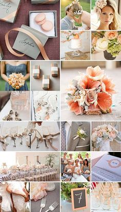 Peach and Grey Weddings: A soft and understated colour scheme that is refreshing and truly delightful on the eye.