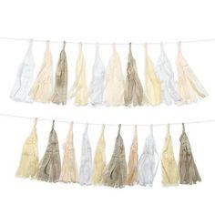 Pastel Tissue Paper Tassel Party Garland