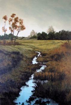 Sparkling Stream by Laura den Hertog Oil ~ 36 x 24