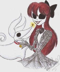 Another drawing of my OC Judy Skellington, For all of you who miss Jack and Sally's daughter.