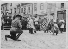 Czechs, residents of the Czech town, dressed in national costumes, burned Nazi flag after the defeat of the Wehrmacht Last Battle, Ww2 Pictures, Powerful Images, Photo Viewer, Human Soul, My Heritage, Countries Of The World, World War Two, Free Photos