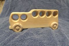 Handcrafted Wood Bus Wooden Toy Bus by