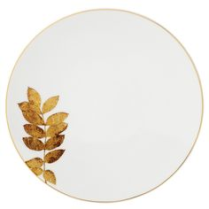"Bernardaud ""Vegetal"" Gold Coupe Salad Plate | Bloomingdale's"