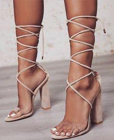 1d6b3d2a2b15 PVC Transparent Heels Party Sandal Shoes. Shoes SandalsWomen s FlatsStrappy  ...