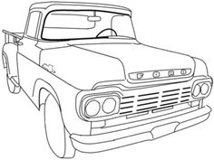 vintage truck color book pages | ... search animations coloring ... - Coloring Pages Cars Trucks