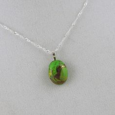 Natural Stone Pendant  Necklace  Handmade Pendant  by CJsRocksGems