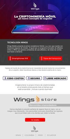 Una idea de negocio perfecta que genera ganancias a través de la tecnología móvil. E-mail Marketing, Wings, Innovative Products, Business, Tecnologia, Ali