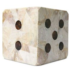Pressed shell die with contrasting color shell number dots. Sold individually.  Finish: Kabibe