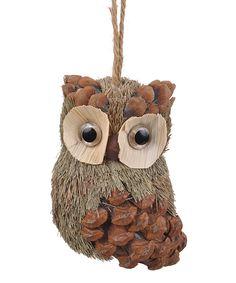 Owl Pinecone Ornament
