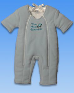 The transition from the swaddle can be a difficult time but not with Baby Merlin's Magic Sleep Suit!  If your baby struggles with sleep- you need to try this!