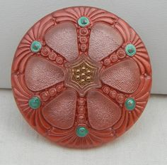 Large Wheel Czech Glass Button by MostlyButtons on Etsy, $6.00