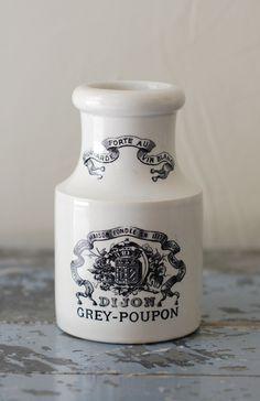 Vintage French Ironstone Mustard Jar - Extra Large Size - via Etsy.