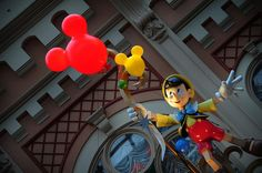 he's got a few strings to hold him down :) Disney Balloons, Disney Characters, Fictional Characters, Fantasy Characters